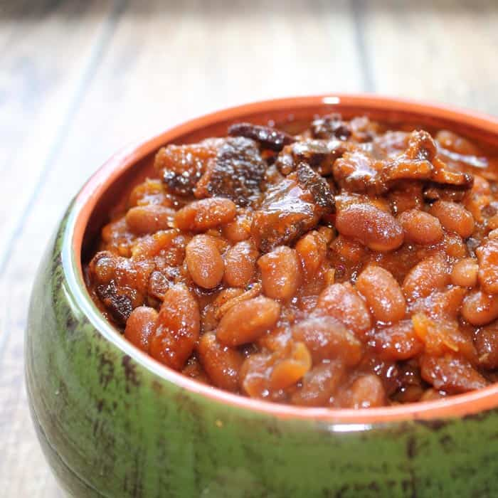Crockpot Bourbon Baked Beans
