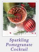 Sparkling Pomegranate Cocktail | 2 Cookin Mamas