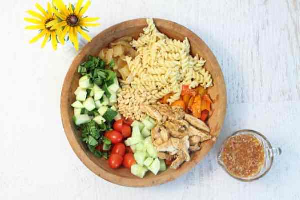 Summer Pasta Salad deconstructed | 2 Cookin Mamas