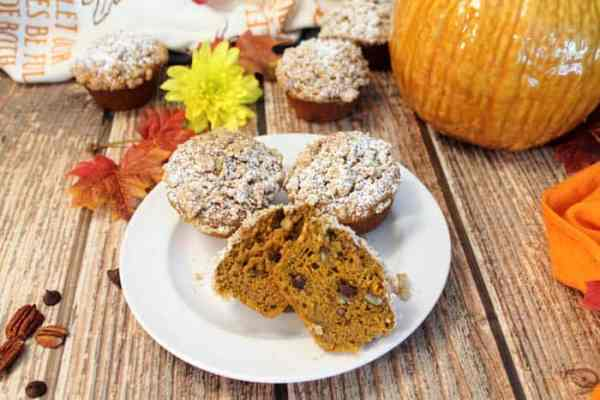 chocolate-chip-pumpkin-muffins-cut-1 | 2 Cookin Mamas