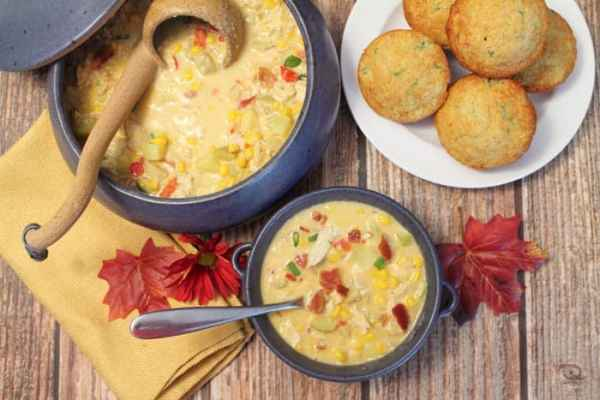 Chicken Corn Chowder 4 | 2 Cookin Mamas