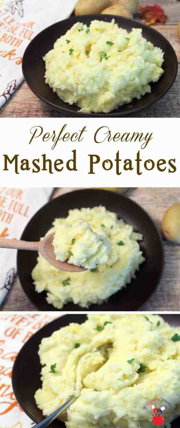 Perfect Mashed Potatoes | 2 Cookin Mamas These creamy, buttery Perfect Mashed Potatoes will come out delicious every time. #recipe