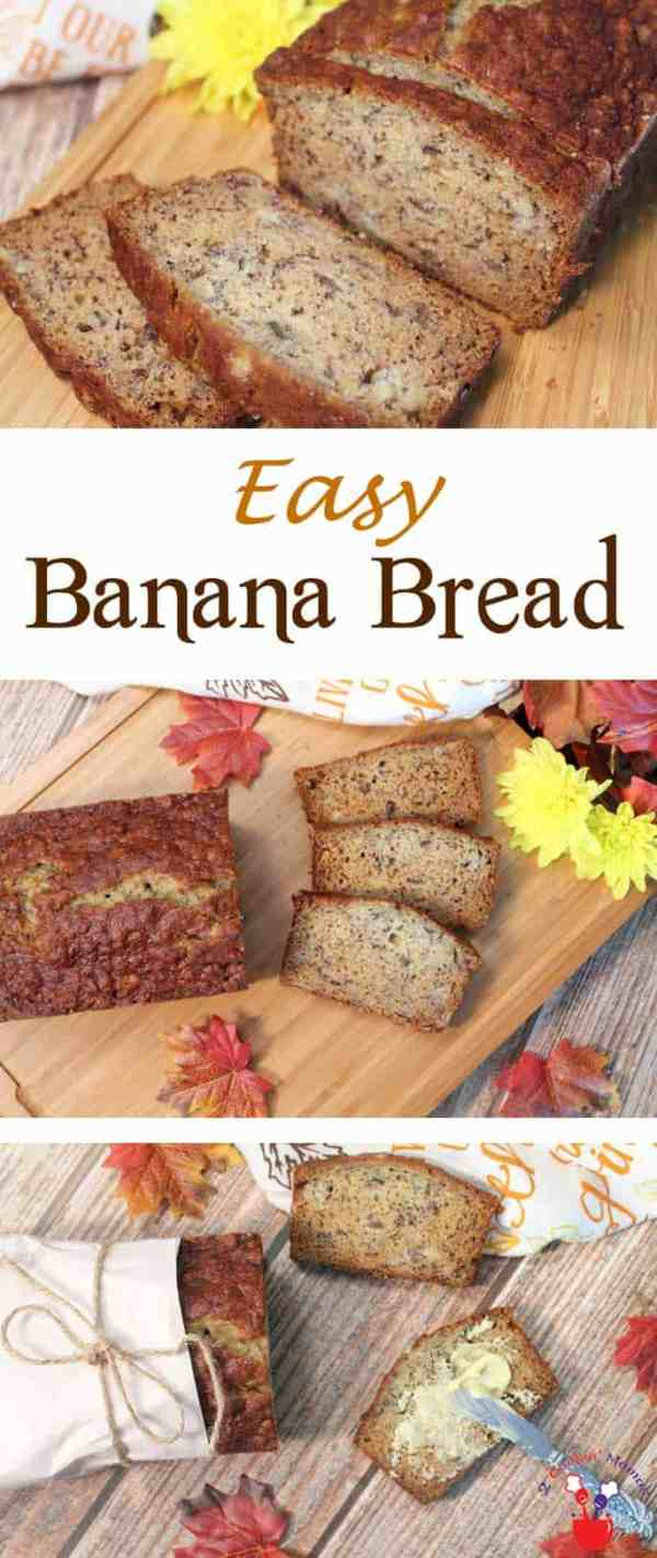 Easy Banana Bread | 2 Cookin Mamas Quick breads are so delicious and so easy to make and nothing beats the taste of a warm homemade banana bread. #recipe