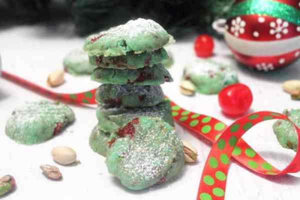 Pistachio Cherry Meltaway Cookies 6 | 2 Cookin Mamas