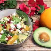 Pomegranate Orange Salad square | 2 Cookin Mamas