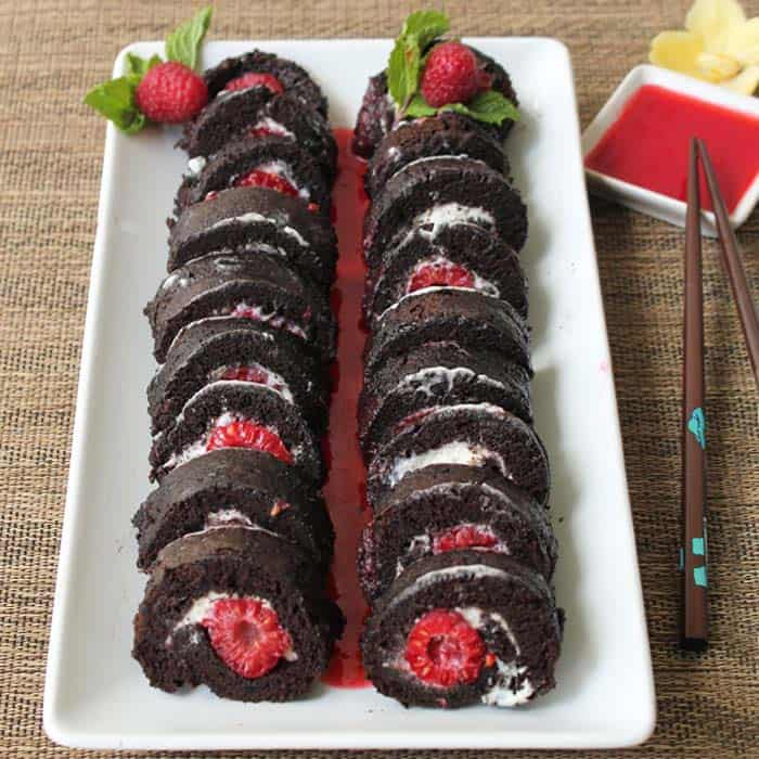Raspberry Sushi Roll