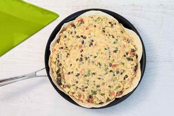 Mexican Frittata prebake | 2 Cookin Mamas