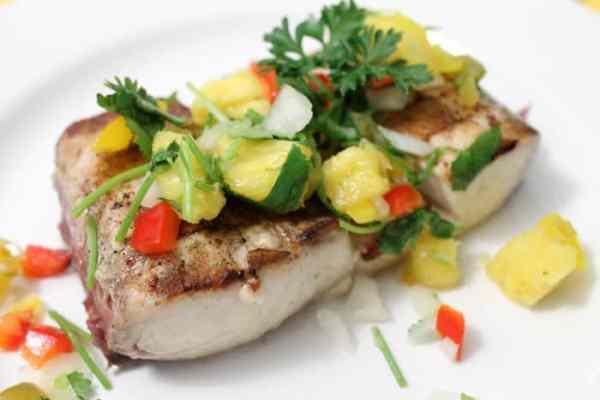 Grilled Mahi Mahi with Pineapple Salsa 2 | 2 Cookin Mamas