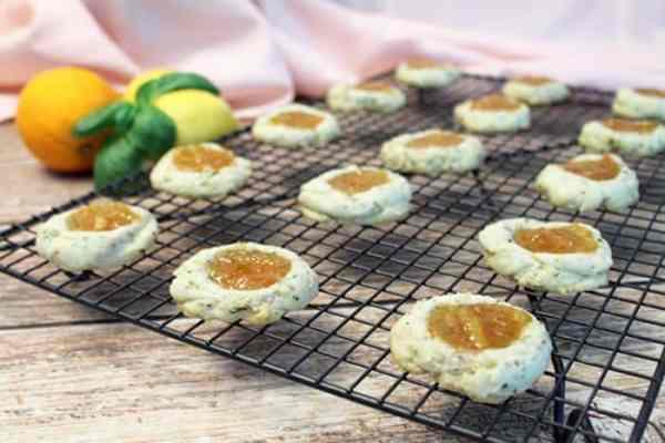 Lemon Basil Marmalade Cookies cooling 2 | 2 Cookin Mamas