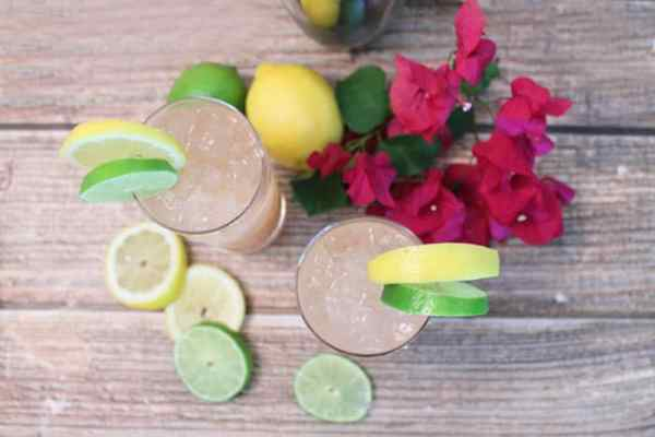 Sparkling Tequila Cocktail overhead | 2 Cookin Mamas