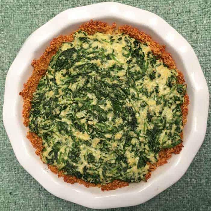 Spinach Pie with Quinoa Crust