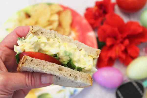 Easy Egg Salad closeup | 2 Cookin Mamas