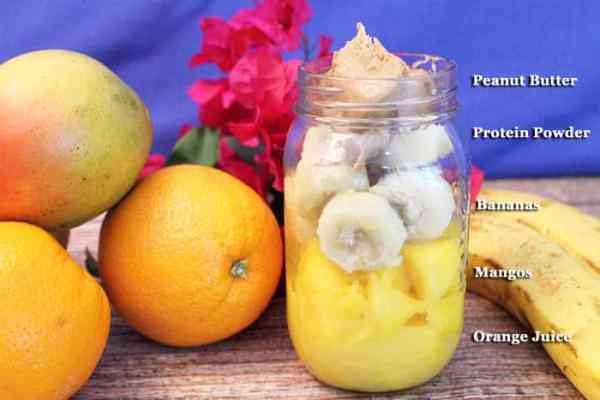 Mango Orange Smoothie ingredients   2 Cookin Mamas