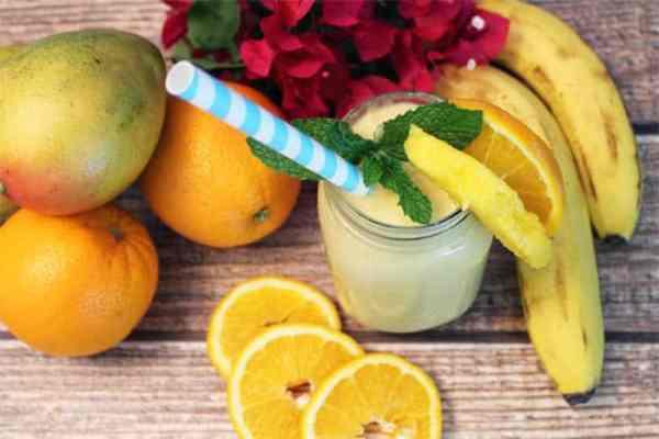 Mango Orange Smoothie overhead