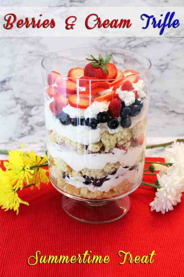 Berries and Cream Trifle | 2 Cookin Mamas