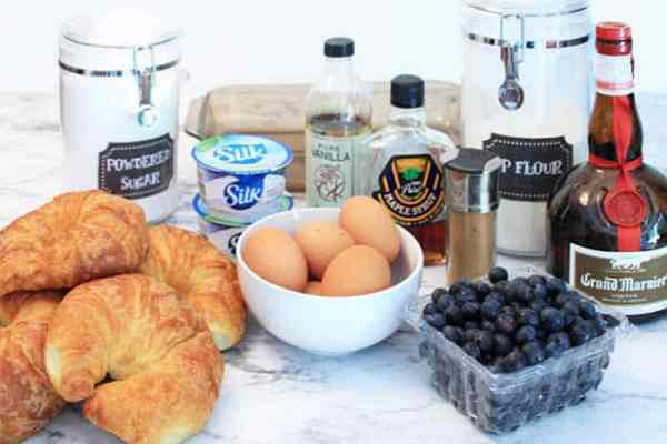 Blueberry French Toast Bake ingredients | 2 Cookin Mamas