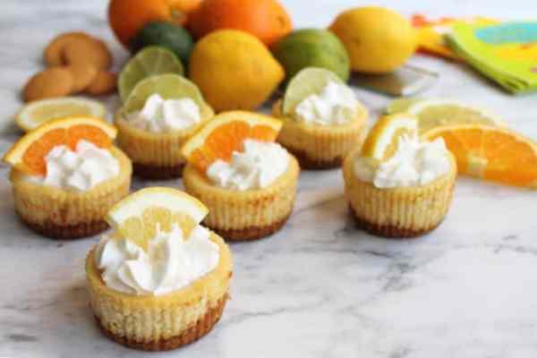 Mini Citrus Honey Cheesecakes 3 | 2 Cookin Mamas