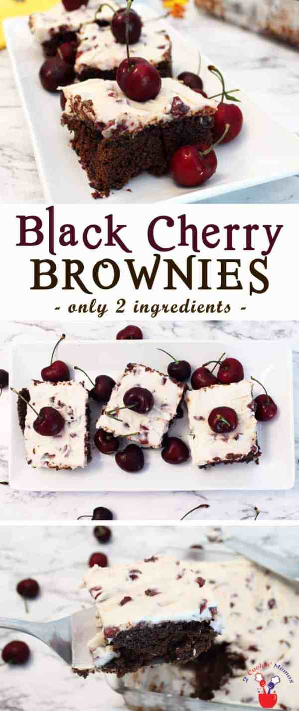 Black Cherry Brownies | 2 Cookin Mamas Nothing could be easier than our black cherry brownies. Just a can of black cherry soda & a brownie mix will make a dessert that will knock your socks off.