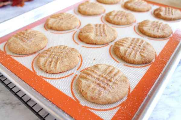 Peanut Butter Snickerdoodles baked | 2 Cookin Mamas