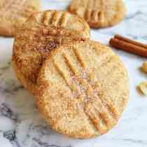 Peanut Butter Snickerdoodles square | 2 Cookin Mamas