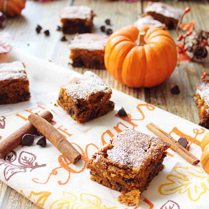 Pumpkin Chocolate Spice Bars Bring in the Fall