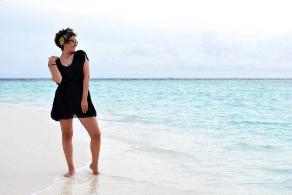look Maldive vestito nero
