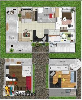 Floor Plan 01 (side lot)