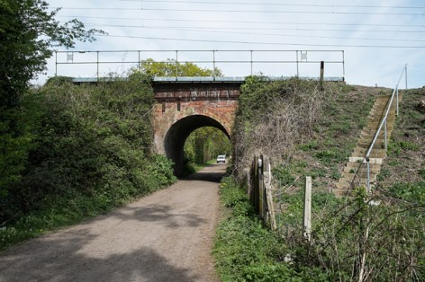 Bridge over farm track outside Manningtree Station
