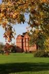 Autumn leaves and red bricks at Kew Gardens Brick