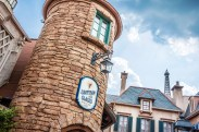Epcot's France pavilion. Go here for ice cream!