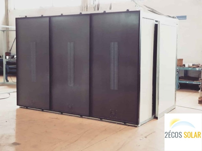chambre de séchage solaire 3 panneaux 2ECOS SOLAR