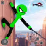 Flying Stickman Rope Hero Flying Hero Crime City APK MODs Unlimited Money Hack Download for android
