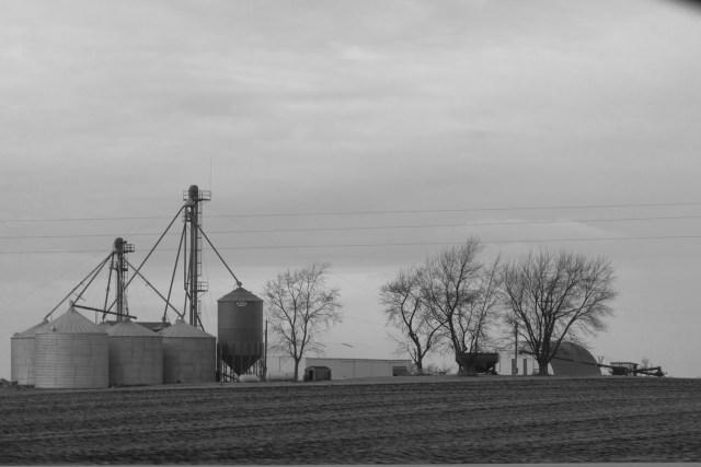 Grain silos in central Illionis