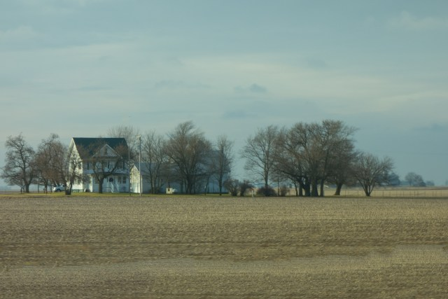 Farm house in the central Illinois Winter