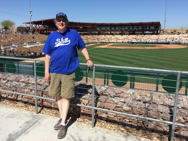 Overlooking the main ballpark at the best Spring Training venue on the planet: Camelback Ranch where the Los Angeles Dodgers train