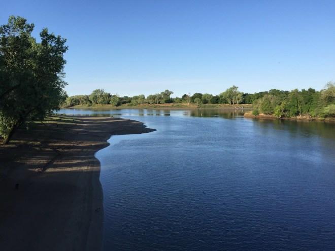 The Sacramento River viewed from Discovery Park - Sacramento, California