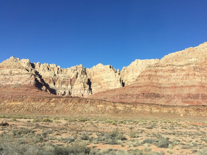 Closer view of the Painted Desert north of Cameron, Arizona