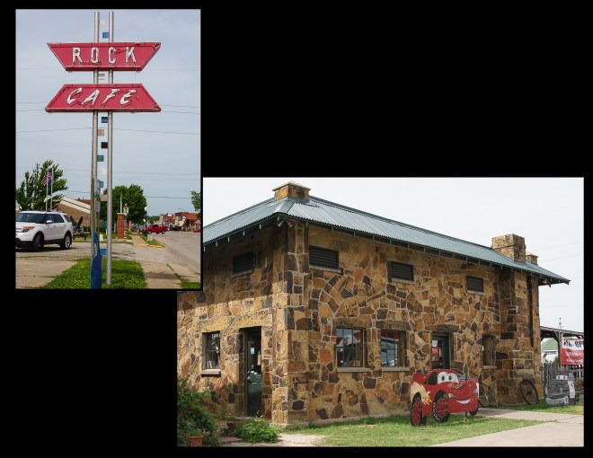 Exterior of Rock Cafe in Stroud, Oklahoma