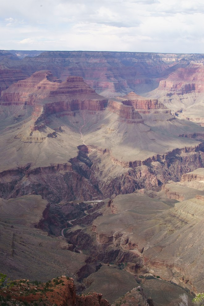 A view of the Colorado River cutting through the Grand Canyon