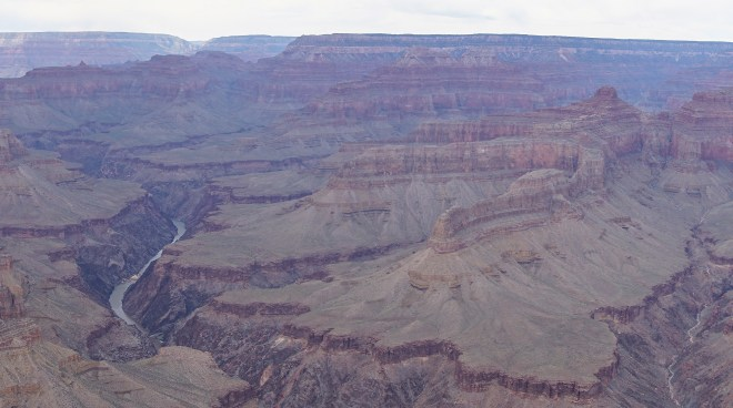 The Colorado River coursing through the Grand Canyon