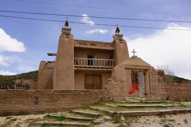 Las Trampas - a church on the high road to Taos, New Mexico