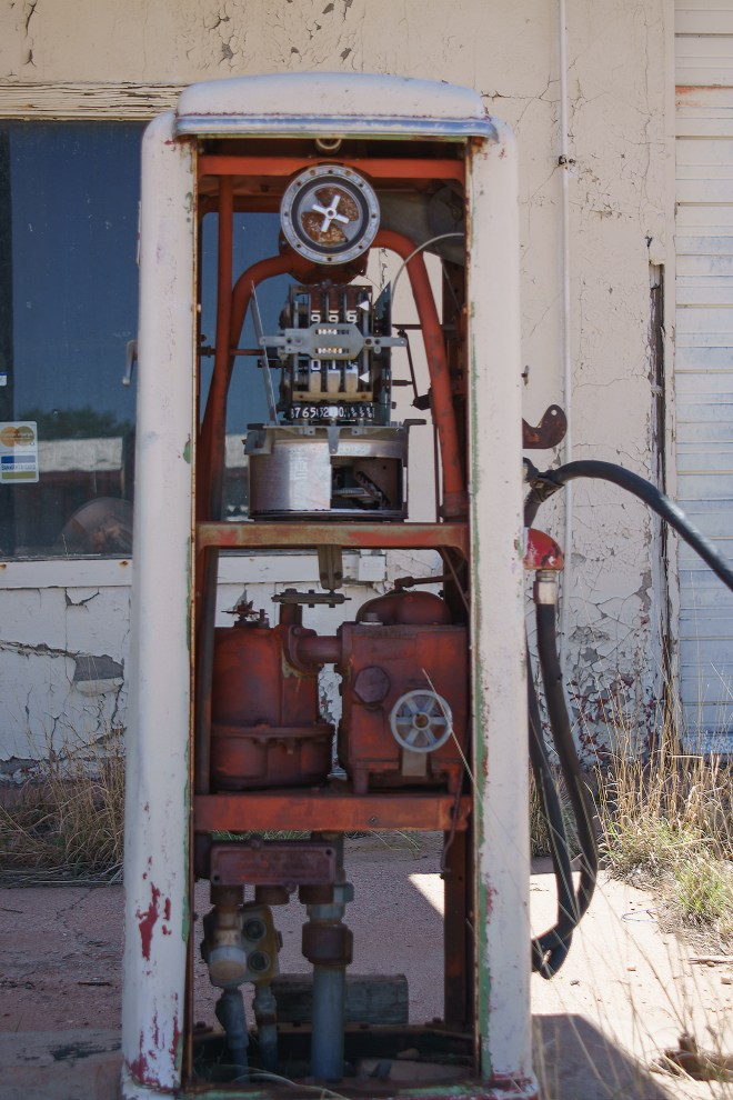 Old gas pump in San Jon, New Mexico