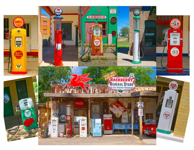 Route 66 Gas Stations and Pumps