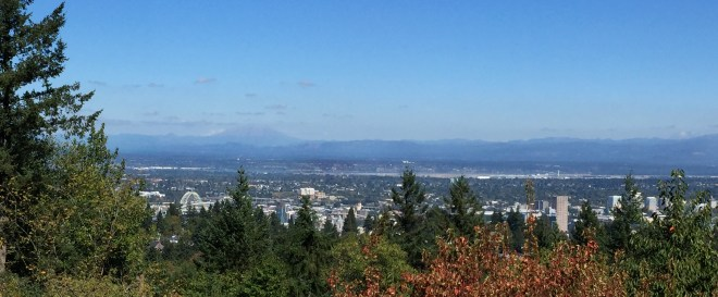 Portland and Mount St. Helens from Council Crest