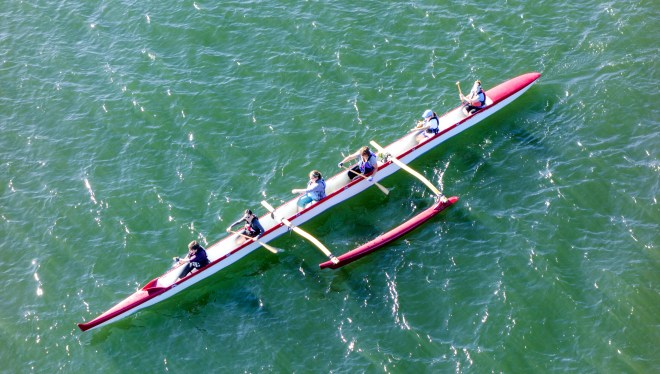 Outrigger on the Willamette River in Portland, Oregon
