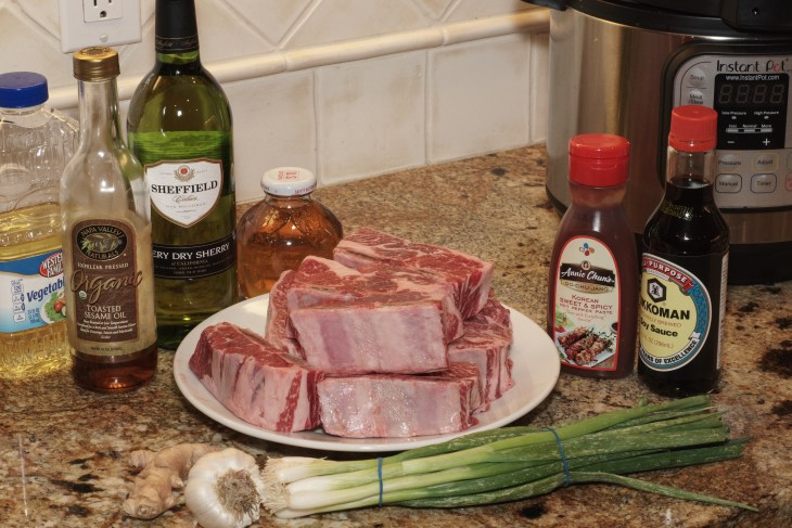 Korean Style Short Ribs - Ingredients