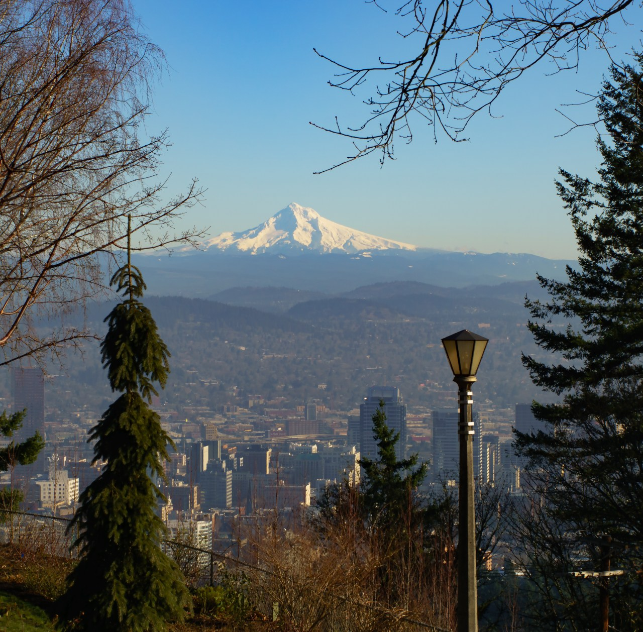 Portland and Mt Hood as seen from the Pittock Mansion