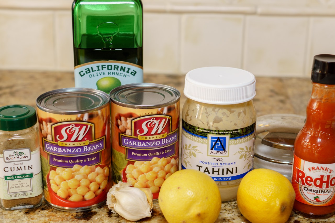 Hummus ingredients.