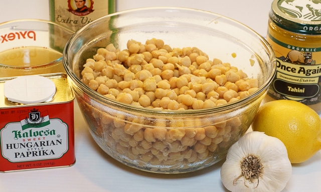 Hummus mis en place