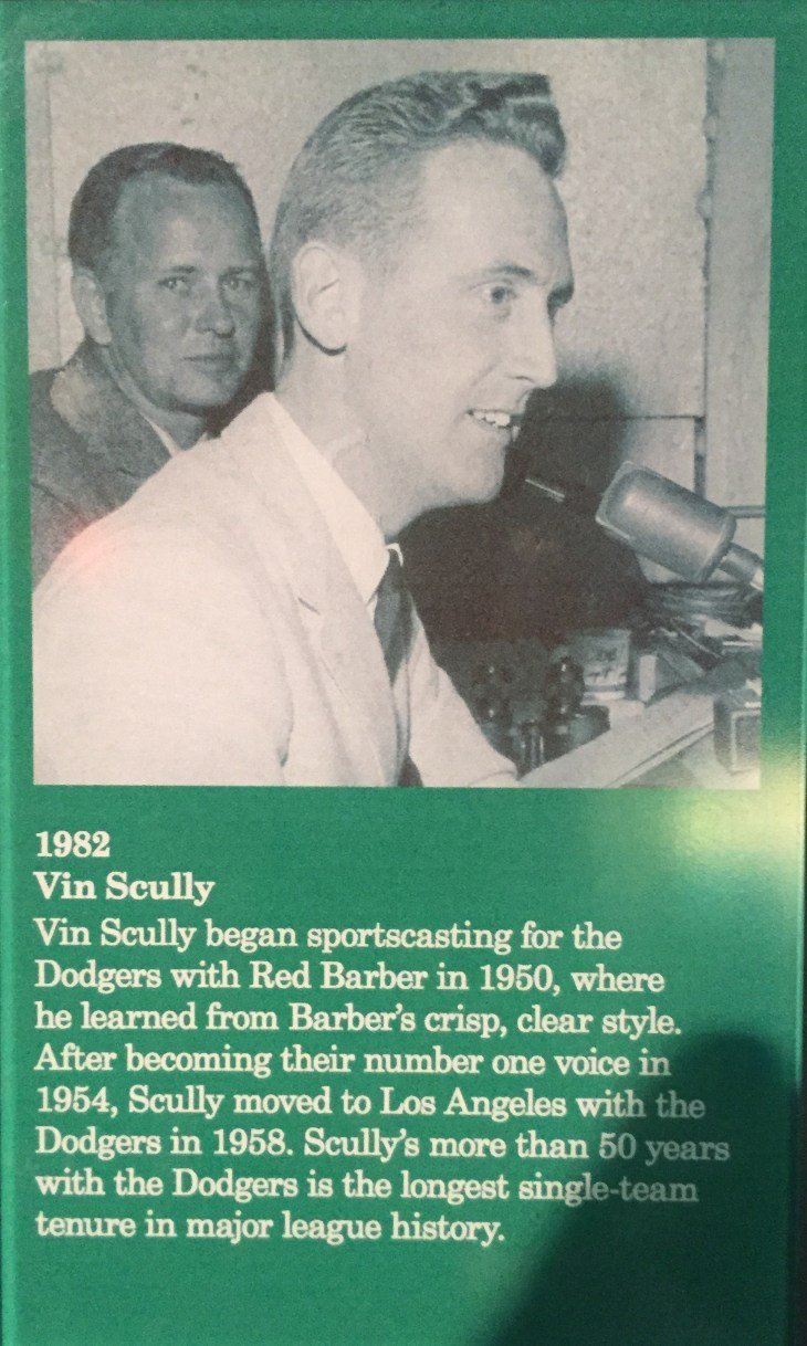 Vin Scully - Announcer Extraordinaire for my Los Angeles Dodgers